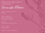 Almond Tree - Baby Girl Shower Invitations