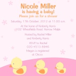 Her Ducky Girls -  Baby Girl Shower Invites
