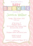 Pink Baby Blocks - Baby Girl Shower Invitations