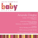 That's Some Stripe! - Baby Girl Shower Invitations