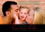 Black Diamond - Holiday Birth Announcement Cards