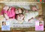 Two True Dolls -  Twin Birth Announcements