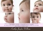 Happy Faces -  Baby Girl Birth Announcements