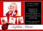 Lady Bug Love -  kids party invites