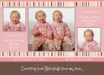 Two by Two Pink -  Twin Birth Announcements