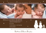 Sweet Snowgirls - Holiday Birth Announcement Cards