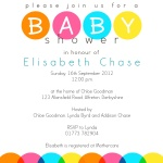 Rainbow Bubbles -  Baby Girl Shower Invites