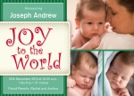 Holiday Baby Joy - Holiday Birth Announcement Cards