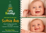 Heaven Sent - Holiday Birth Announcement Cards
