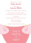 Diaper Do Pink - Baby Girl Shower Invitations
