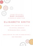 Button Her Up - Baby Girl Shower Invitations