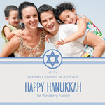 Blue Star of David -  Hanukkah Greeting Cards