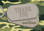 Dog Tags - Thank You Cards for Men