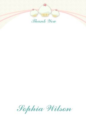 Birthday Thank You Cards, Thank You Birthday Cards, Three Times Cake Design