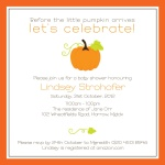 Perfect Pumpkin - Baby Girl Shower Invitations