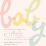 Baby Love -  Baby Girl Shower Invites
