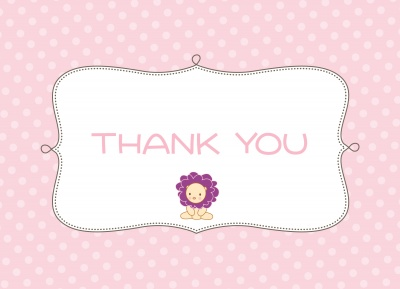 Thank You Cards for Women, Pink Baby Frill Design