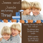 Double Lil' Boat Bash - Twin Party Invitations