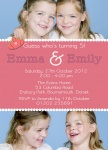 Twin Birthday Queens -  Twin Birthday Invitations