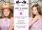 Double Sweet Bee Birthday -  Twin Birthday Invitations