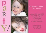 Party Girls! - Twin Party Invitations
