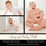 Big 'n Bright -  Twin Birth Announcements