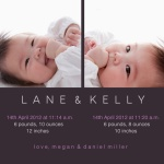Sophisticated Babies -  Twin Birth Announcements