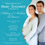 Family Big Blue Swirl - Couples Baby Shower Invitations