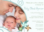 Family Aqua Pinwheels - Arrival Baby Shower Invitations
