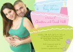 Binkies & Bottles - 	Baby Shower Invitations for Couples