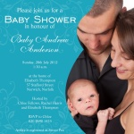 Baby's Blue Swirl -  Arrival Shower Invitations