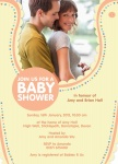 Party Bib - Couples Baby Shower Invitations