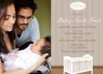 Baby's Crib -  Arrival Shower Invitations