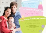 Family Binkys & Bottles - Arrival Baby Shower Invitations