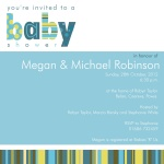 What a Stripe, Too! - Couples Baby Shower Invitations
