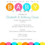 Family Rainbow Bubbles - Couples Baby Shower Invitations