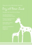 Gorgeous Giraffe Family - 	Baby Shower Invitations for Couples