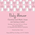 Pink Family Bottle Bonanza - 	Baby Shower Invitations for Couples
