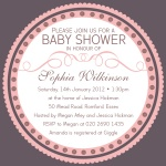 Pretty Pink Seal -  Baby Girl Shower Invites