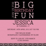 Big Fun -  Sweet 16 Invitations
