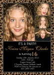 Leopard Love - Teenage Party Invitations