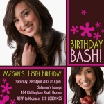 B-Day Bash! - Teenage Party Invitations