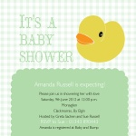 Ducky's Delight - Baby Girl Shower Invitations