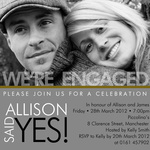 Deuce Design -  Engagement Party Invites