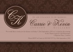 Monogram Duo -  Engagement Party Invites