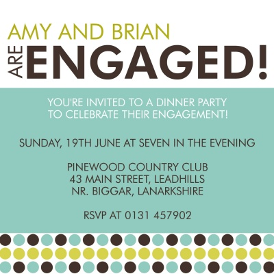 Engagement Party Invitations, Mod Party Design
