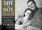 Silver Bands Date -  Save the Date Cards for Wedding