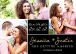 Chocolate Block Date -  Save the Date Cards for Wedding