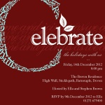 Crimson Celebration -  Christmas Invitations