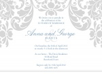 Floral Curtain - Anniversary Invitations